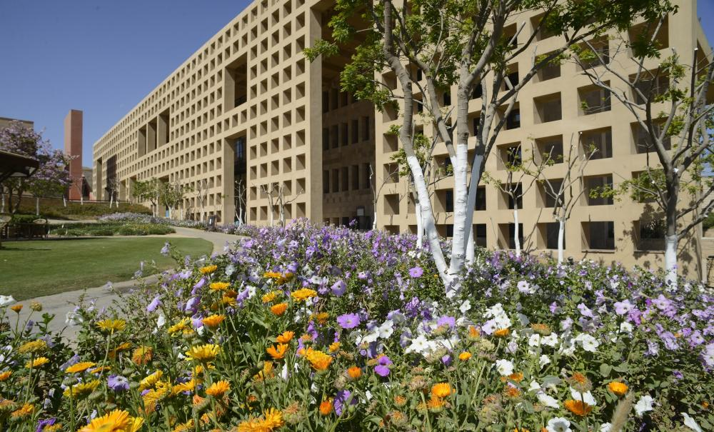 AUC library building