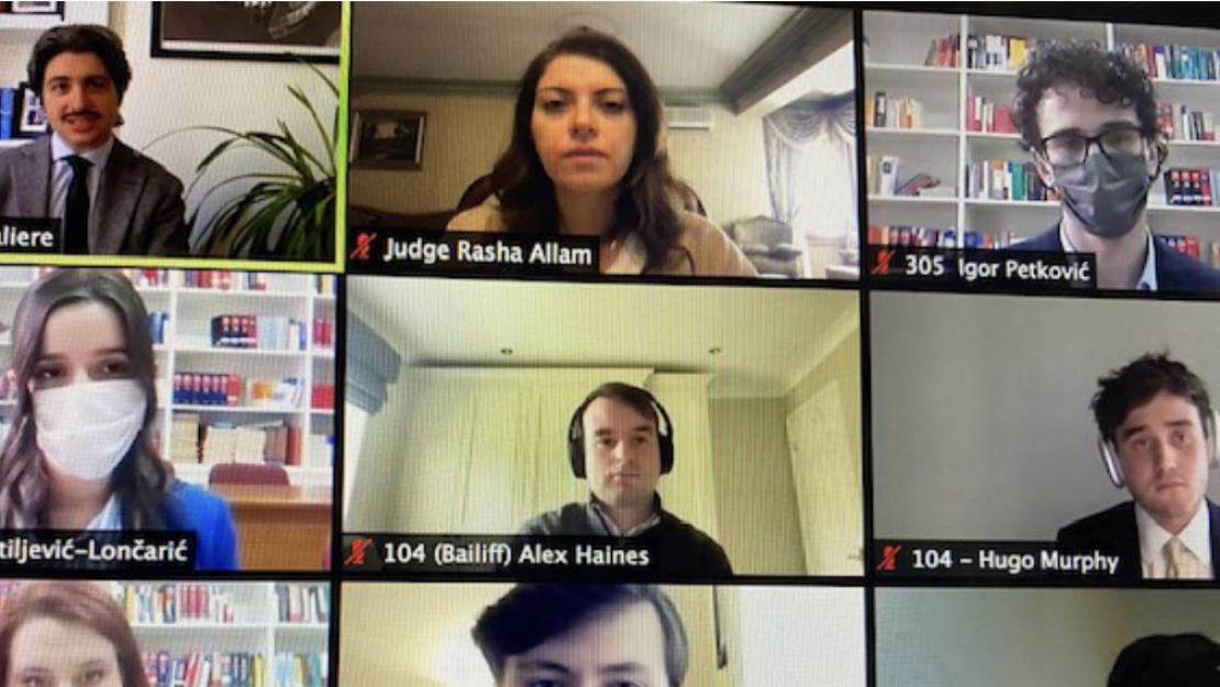 Screenshot of video conference in progress