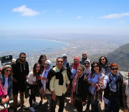 Group of student in a study tour in South Africa